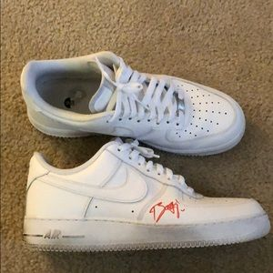 AUTOGRAPHED AIR FORCE 1's by LIL YATCHY